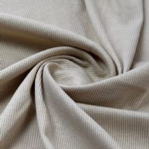 Stone - Plain 100% Cotton 2x1 Rib